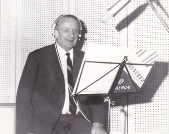 Man in Recording Studio - Vintage Photograph (DDD)