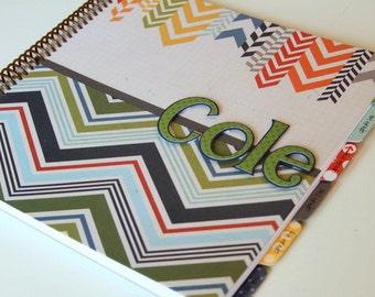 School Memory Book * School Journal * School Days Scrapbook * First Day of School Scrapbook * COLE design