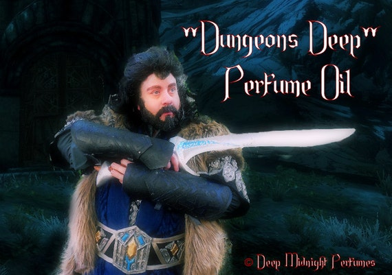 DUNGEONS DEEP Perfume Oil: Inspired by The Hobbit, Moss, Earth, Benzoin, Sweet Tobacco