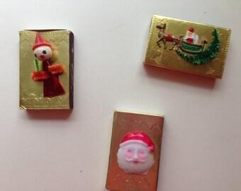 Vintage Holiday Matchboxes