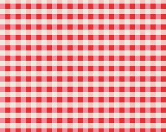 Twice as Nice Plaid Red by The Quilted Fish for Riley Blake, 1/2 yard