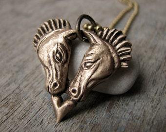 Horses heart pendant