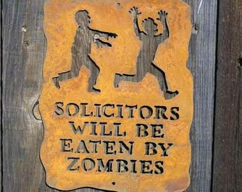 Solicitors Will Be Eaten by Zombies Screw Mount Sign