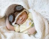 Crochet Aviator Hat (Newborn)