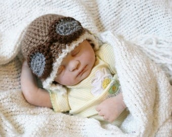 Crochet Aviator Hat (Newborn)