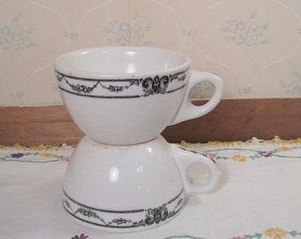 Two Iroquois China Restaurant Ware Cups