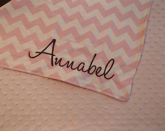 Personalized 30x30 minky blanket