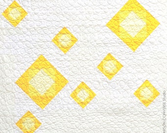 Yellow Bloom Quilt - Crib or Wall Hanging Size