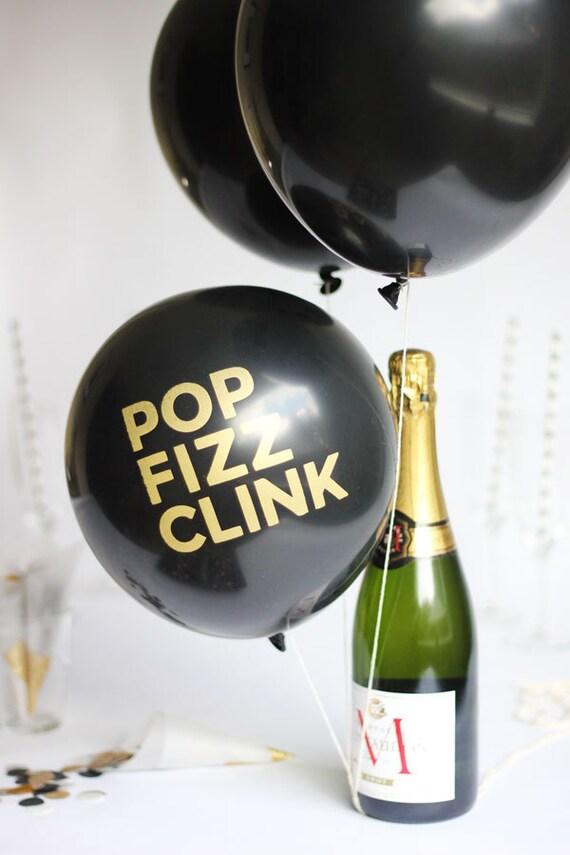 POP FIZZ CLINK New Year's Eve Balloons
