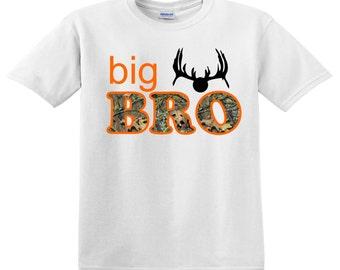 Big Brother Tee with Camo Hunter Orange and Antlers