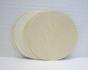 Wooden Circles 10 Inch Unfinished For Signs And Craft Projects Lot Of 5
