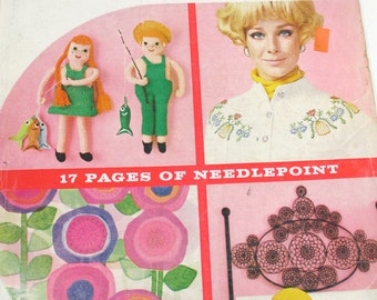 Vintage McCalls Needlework and Crafts Magazine 1970s Hippie Era Crafts