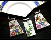 CUSTOM ORDER Recycled HEIRLOOM China Plate Necklace - Reserved for Charlotte