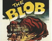 Magnet- The Blob horror movie starring Steve McQueen movie poster magnet vintage film nothing can stop the Blob