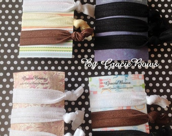 Basic Colors Elastic Hair Ties- You Choose Your Colors