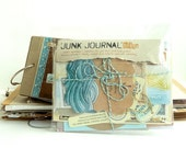 JUNK JOURNAL 'bits' - 'Down to the Sea' - coordinated ephemera to create your own unique mini book