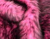 Bubble Gum Pink with Black tips Faux Fur Limited Edition