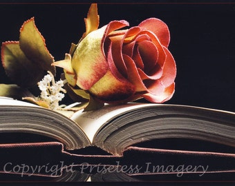 Flowered Book, 5x7 photographic print