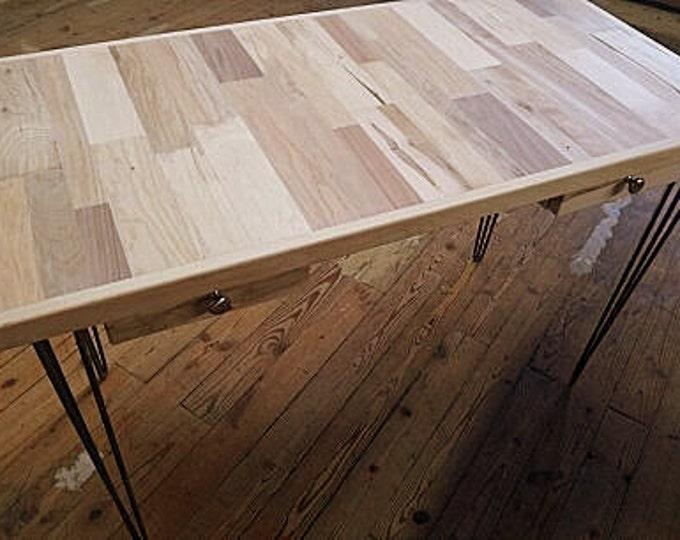 Wood Desk Reclaimed Wood Office Desk Hairpin Legs Desk Hairpins
