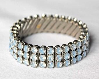 Blue Givre Rhinestone Expansion Bracelet