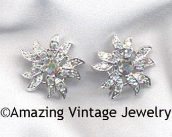 Sarah Coventry AURORA BLAZE Earrings - 1967  SALE 10.00
