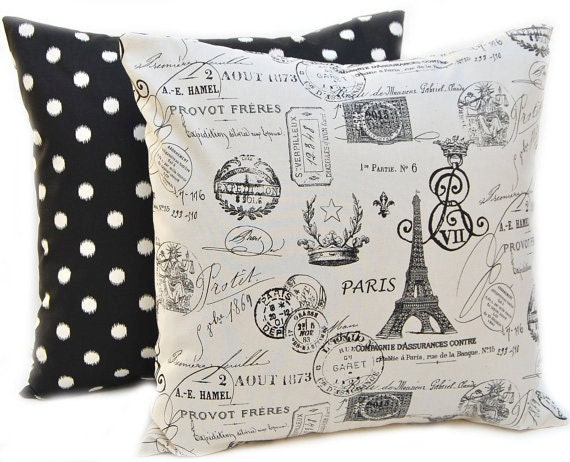Items similar to Pillow Throw Pillow Covers for Decorative Pillows Cushion Covers Onyx Black and ...