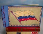 Ecuador Flag Stitched Journal Album with Vintage Cigar Flannel Cover