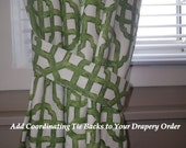 Add Coordinating Tie Backs to Your Custom Drapery Order