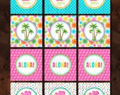 Printable Party Toppers - Splish Splash Luau Bash Themed Collection - DIY Printables by The Paper Cupcake