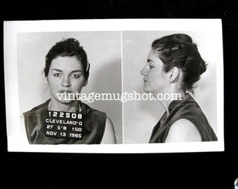 Bad Women Group Cleveland Ohio Police Department Criminal MUG SHOT 1965 Tough Woman