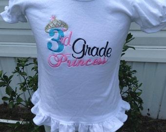 Third Grade Princess Shirt size 2T up to 5T