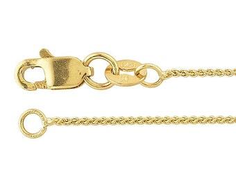 14K Yellow Gold  Wheat Chain