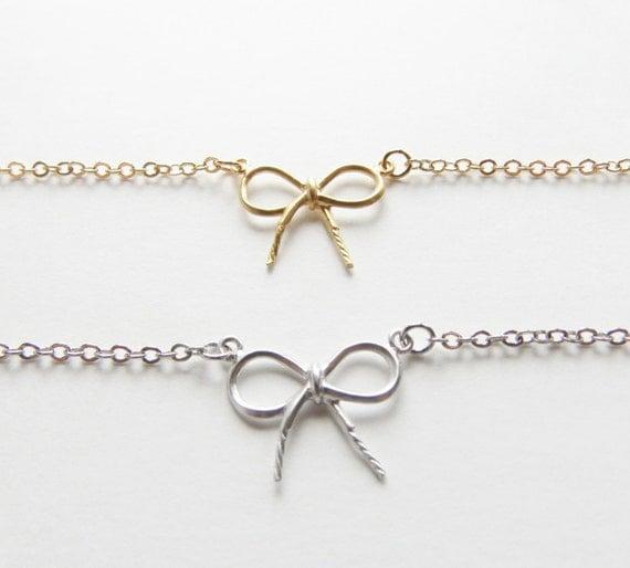 Bow Bracelet   Bow Bracelet   Gold Bow Bracelet   Small Bow Bracelet   Christmas Bracelet   Holiday Gift Idea