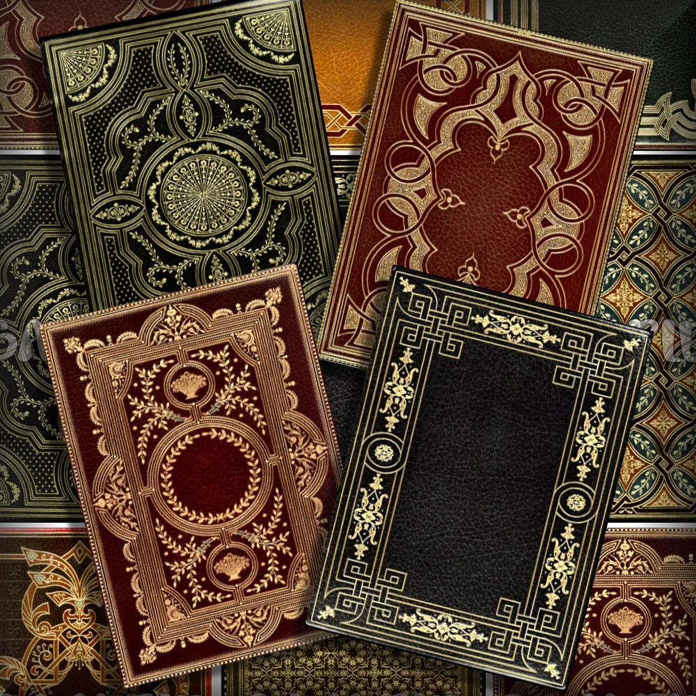 Victorian Book Covers No 3 ATC ACEO Printable Download 2.5 ...