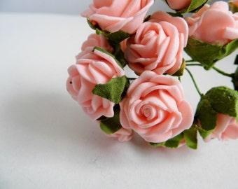Bunch of Foam Rose 12 Heads - Pink
