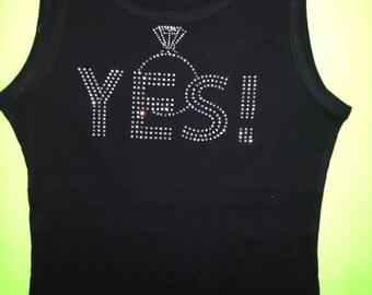 I said Yes t-shirt. I said Yes long sleeve shirt. I said yes v-neck shirt. Yes Bride shirt. Bride to be shirt. Just engaged shirt. Weddings.
