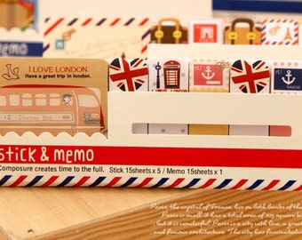 I Love London Post It Memo Note Pad  90 sheets SS273 FREE SHIPPING