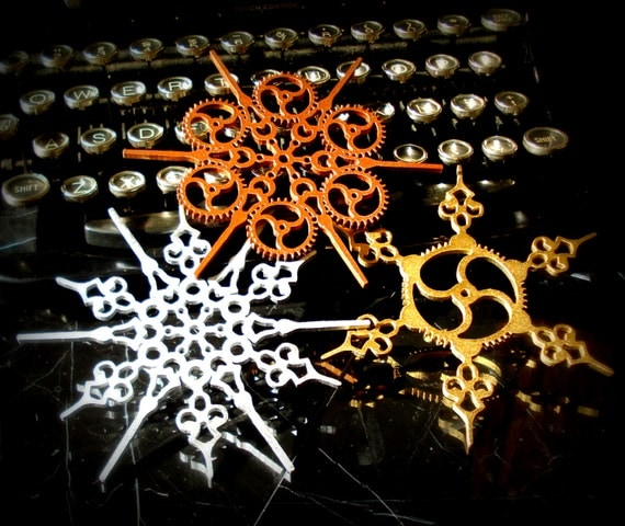 Steampunk Snowflake Ornaments