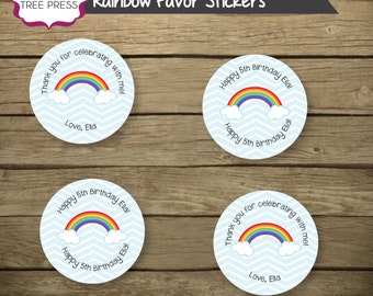 Rainbow Theme Stickers or Tags Printable