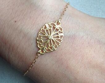 Filigree Flower Bracelet