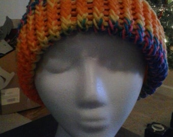 Tropical Sunset Knit Beanie
