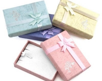 Jewellery Necklace Gift Box - Choose your colour x 2