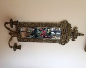 Reserved for Sherry ! Vintage Brass Mirror