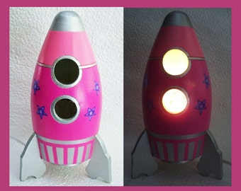 Astro Girl Night Light - Table Lamp Spaceship