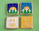 Easter Cookies, Religious Easter Cookies - 1 Dozen