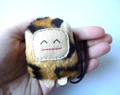 Animal print monster plush necklace, Smile