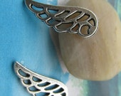 20pcs 24x9mm Antiqued Silver plated bird wings charms  findings