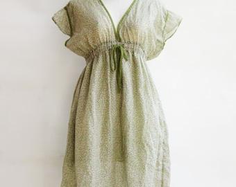 D20, Dainty Light Green Cotton Dress