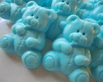 20 Teddy Bear Soap -  blue baby shower favor, kids party favor, baby shower decoration