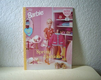 Barbie Paper Doll Booklet, Spring Fashions, unpunched
